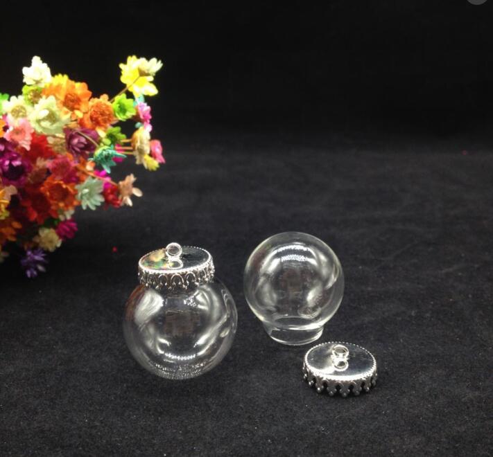 3 pcss 25*15mm Klarglas Globus Halskette Kit Flasche Anhänger DIY Top Terrarium Flasche Charme Apotheker Schmuck design