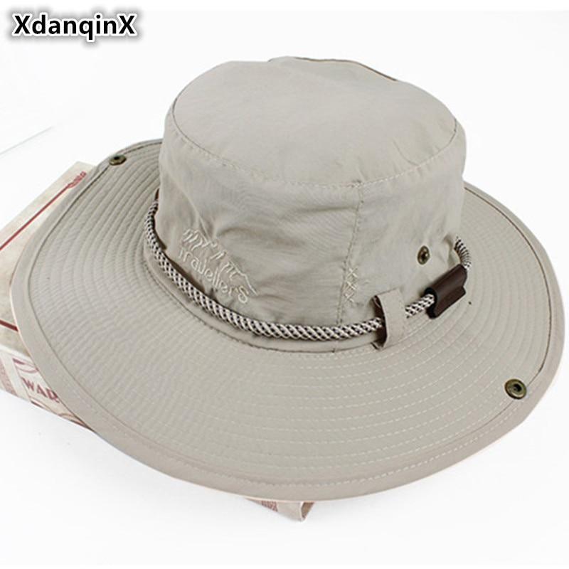 Панама XdanqinX Мужская сетчатая, дышащая Панама в западном стиле, регулируемый размер, с веревкой, для пляжа, летняя