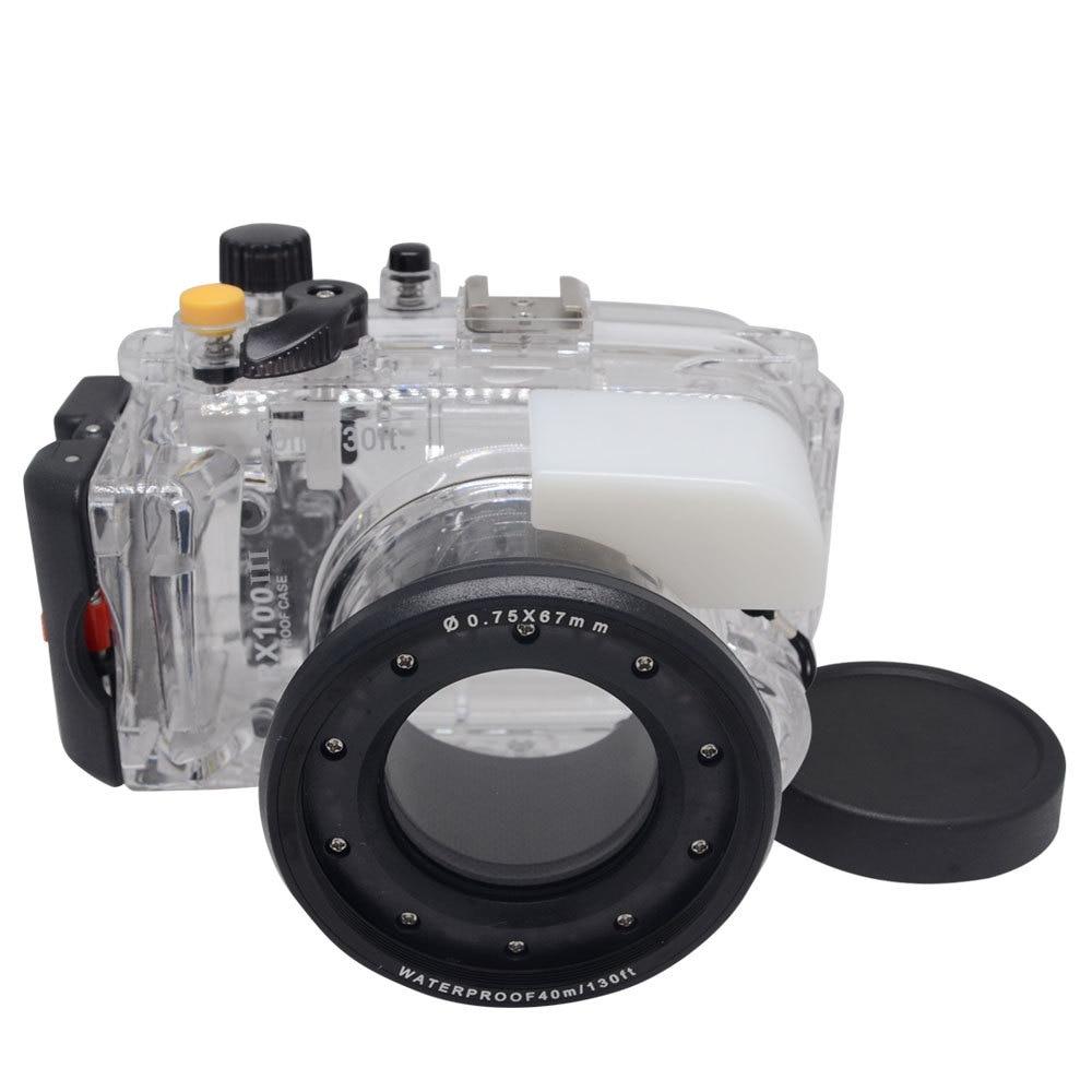 Carcasa de buceo subacuática Mcoplus WP-RX100 iii 40M 130ft para Sony DSC-RX100 III RX100 Mark III