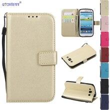 Para el caso de Samsung Galaxy S3 S 3 Siii Neo Duos GT-I9300 GT-I930 cubierta de cuero del teléfono GT I9301 I9300 I9301i I9300i I9301Q Flip casos