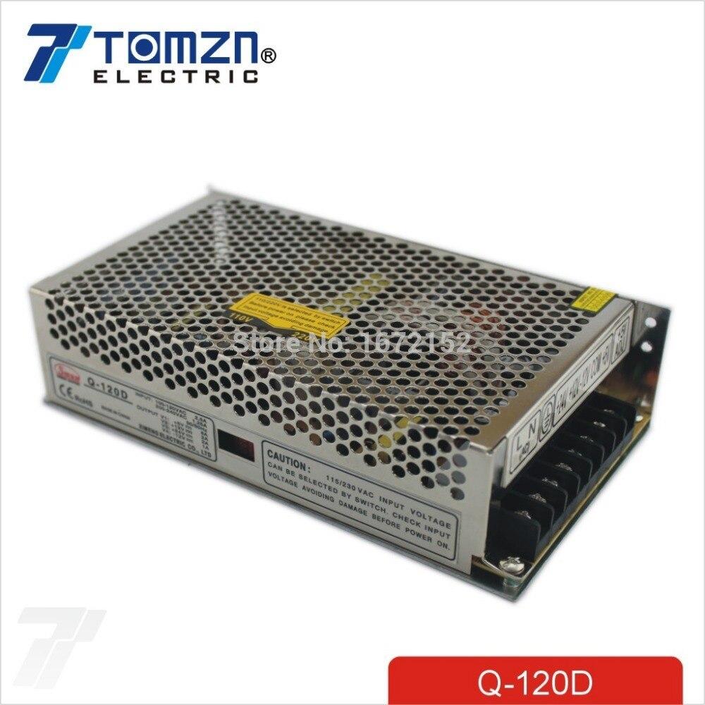 120W D Quad salida 5V 12V 24V -12V fuente de alimentación de conmutación AC a DC SMPS