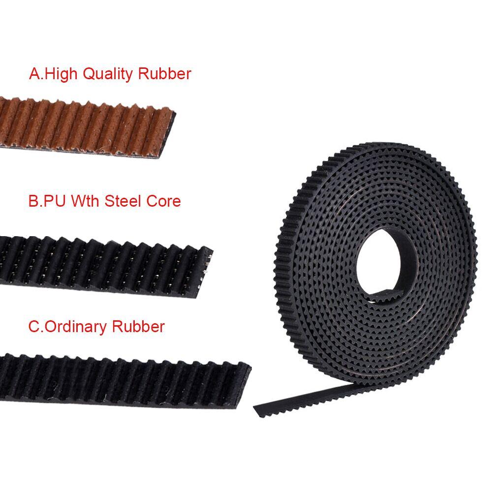 Запчасти для 3D-принтера, GT2-6MM Ремень ГРМ GT2, ремень полиуретан со стальным сердечником, 2GT, Ширина ремня ГРМ 6 мм для Reprap, резиновые Рампы 1,4