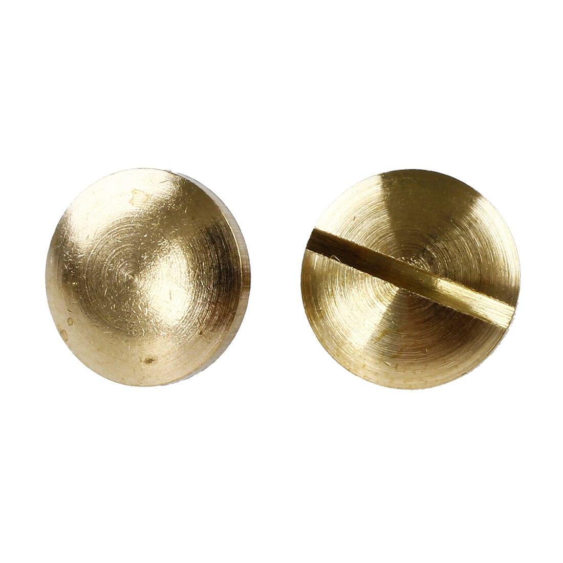 SZ Hot 10x Arc Solid Brass Button Stud Screw Nail Screw back Leather Rivet Belt 6mm