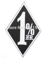 """4,3 """"uno por ciento 1% er forajido MC bordado parche para chaleco de estilo motero coser hierro en Biker insignia para chaleco envío gratis"""