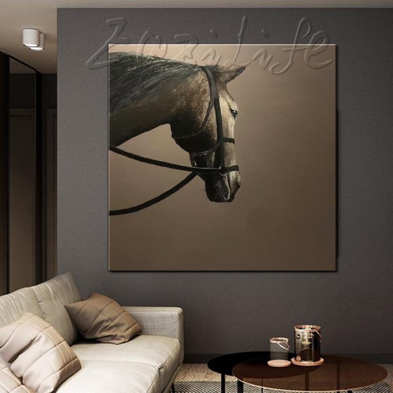 Handgemalte ölgemälde Original, pferd malerei, impasto, schwere textur, riesige größe, palettenmesser malerei, Wandkunst. Wohnkultur