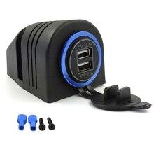 Chargeur de voiture double USB 2,1a 12V 24V   Base de tente pour voiture, camion moto bateau ATV