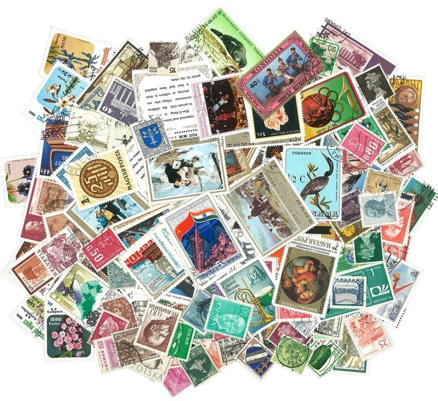 100 шт./пакет мировые марки из многих стран, все разные, без повторов, бывшие в употреблении почтовые марки для коллекционирования