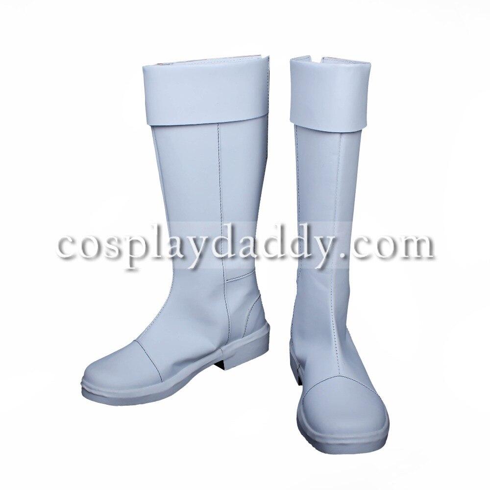 My Hero Academia Todoroki Shoto White Long Cosplay Shoes Boots S008