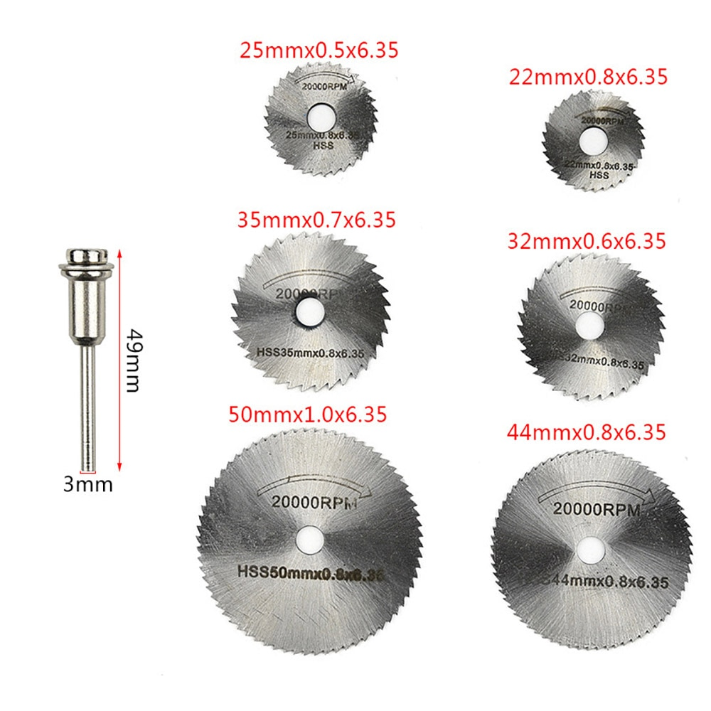 Snijschijf voor metaal met hoge snelheid staal, roterend mes, doorn - Schurende gereedschappen - Foto 6
