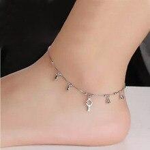 Mode 925 argent clé cloche bracelets de cheville pour les femmes offre spéciale en argent Sterling bijoux filles cadeau