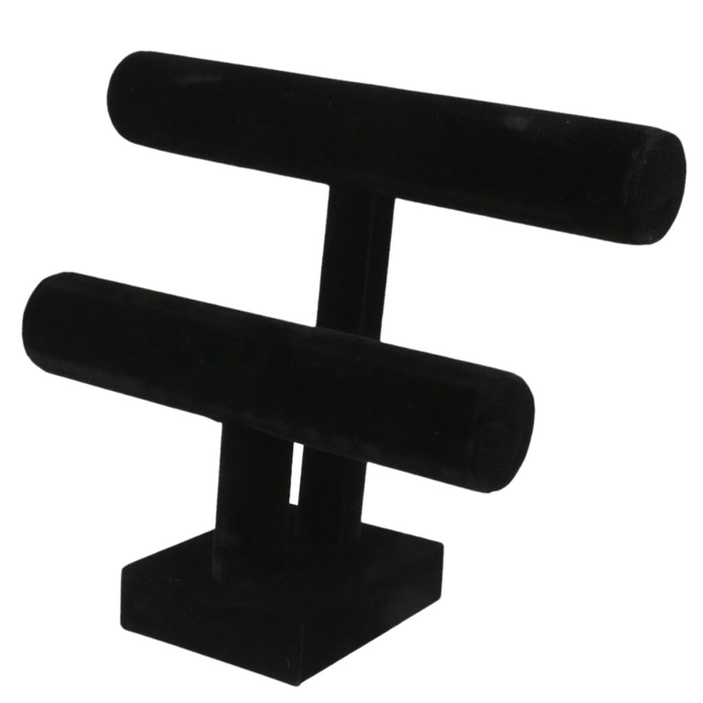 Brazalete de 2 niveles con soporte de barra en T negro