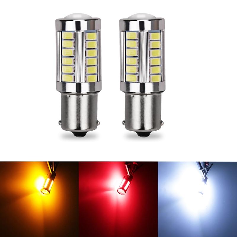 Urbanroad 10Pcs 1156 BA15S P21W 5630 5730 33SMD 12V Car Auto Tail Bulb  LED Brake Lights Reverse Lamp Daytime Running Light