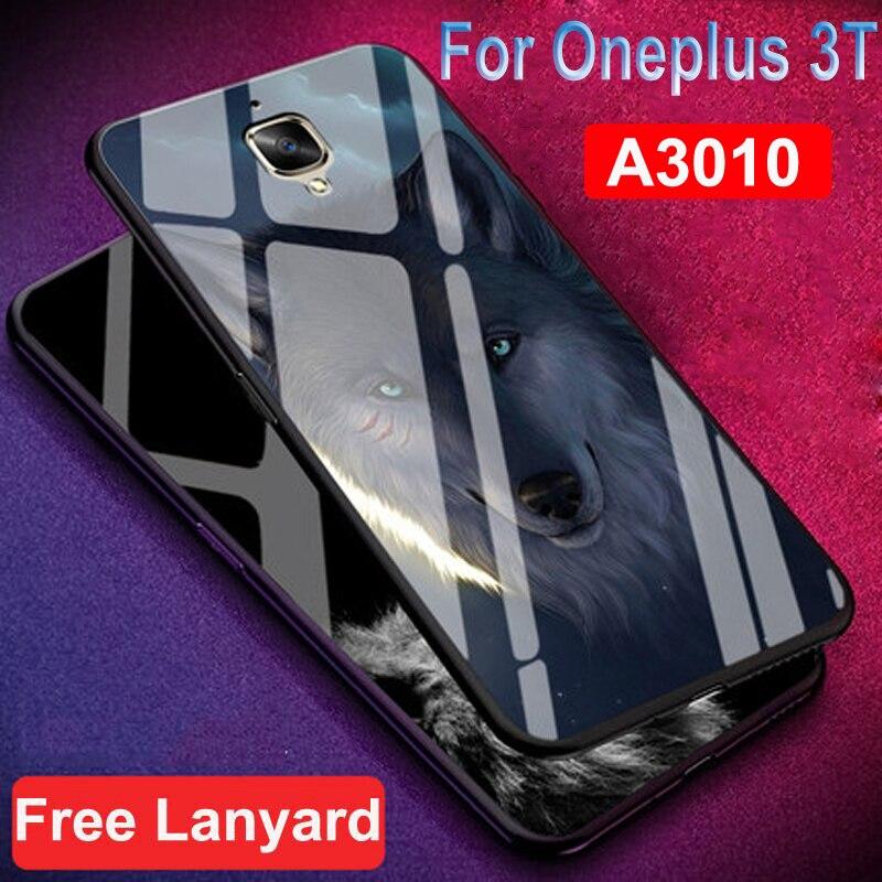 Para oneplus 3t carcasa dura a prueba de golpes One plus 3T funda 9H Anti-explode oneplus 3T A3010 carcasa trasera de vidrio templado para 1 + 3T