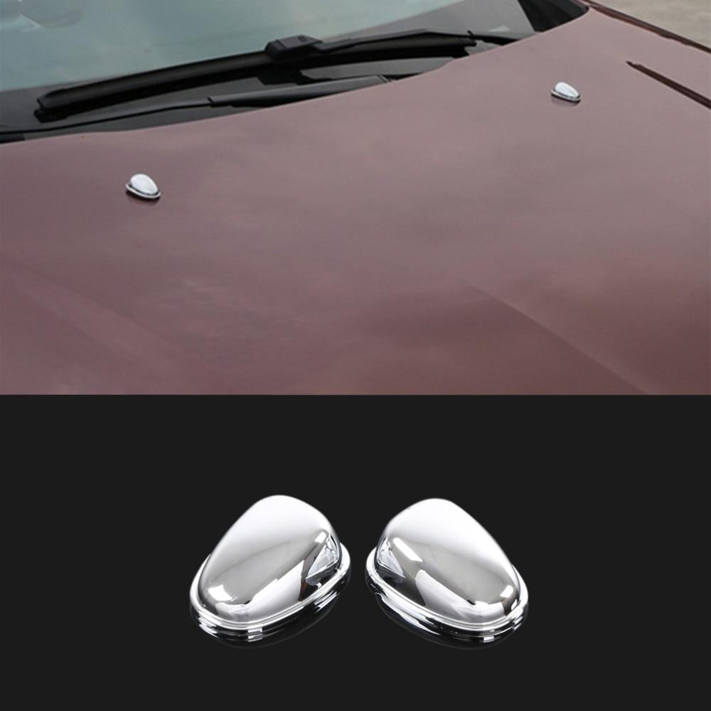 Bocal de limpeza para carro, cobertura de spray de água em abs, lantejoulas decorativas, adesivo para peugeot 208, 2008, 2014, 2015, 2016 e 2017, para carro estilizador