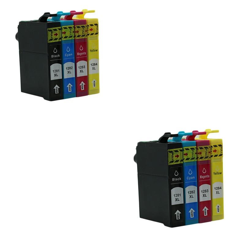 Cartucho de 8 Uds. Luocai T1281-1284 para impresora Epson Stylus SX125 SX130 SX420W SX235W SX440W SX430W SX425W SX435W SX438 SX445W S22