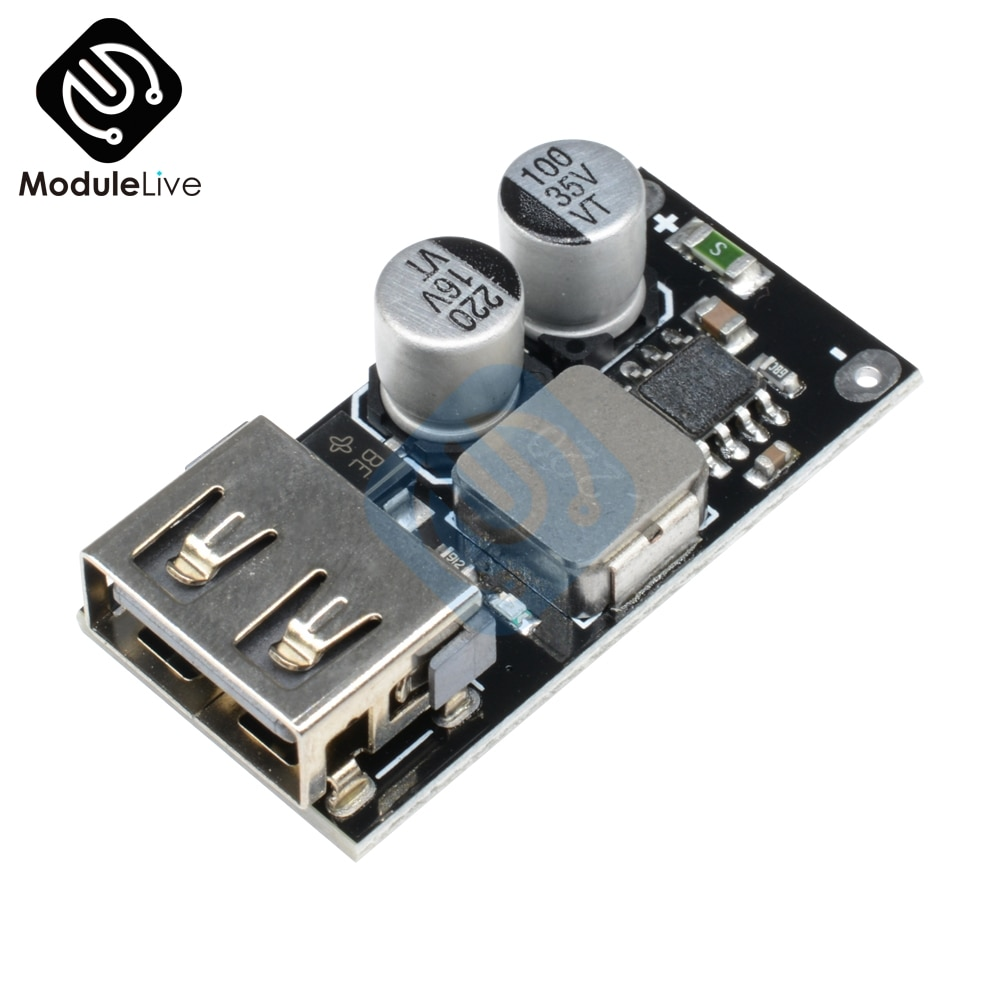 QC3.0 QC2.0 USB DC-DC convertidor Buck módulo de carga 6-32V 9V 12V 24V a la placa de circuito de cargador rápido 3V 5V 12V paso abajo