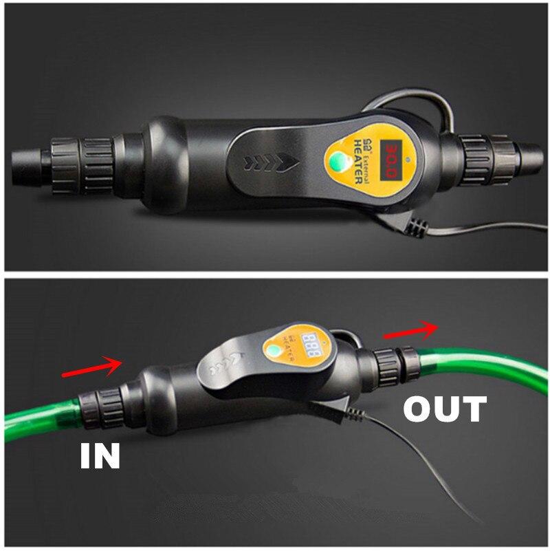 Aquecedor de Aquário Externo para Aquário de 20-35 Digital Aquecedor Graus Temperatura Ajustável Controlador 300w 500w
