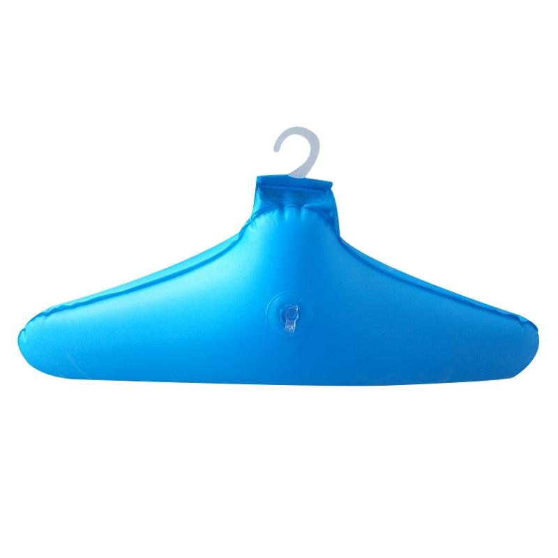 Colgador de ropa inflable de PVC de 5 uds., perchas portátiles plegables antideslizantes de viaje E2S