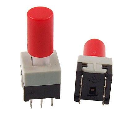 10 piezas 8,5x8,5mm x 18mm tapa roja momentáneo pulsador tacto Interruptor táctil 6 pines