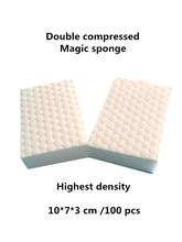 Double Compressed magic melamine sponge eraser pad. Durable high double density nano clean sponge for dish washing!