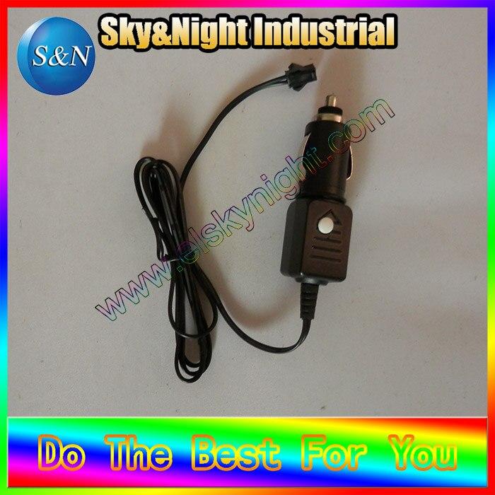 100 unids/lote inversor DC 12V con encendedor de cigarros puede controlar EL wire-3M Encendido/parpadeo/apagado + envío gratis