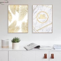nordic golden leaf picture canvas art print wall art canvas painting wall pictures for living room poster unframed home decorati