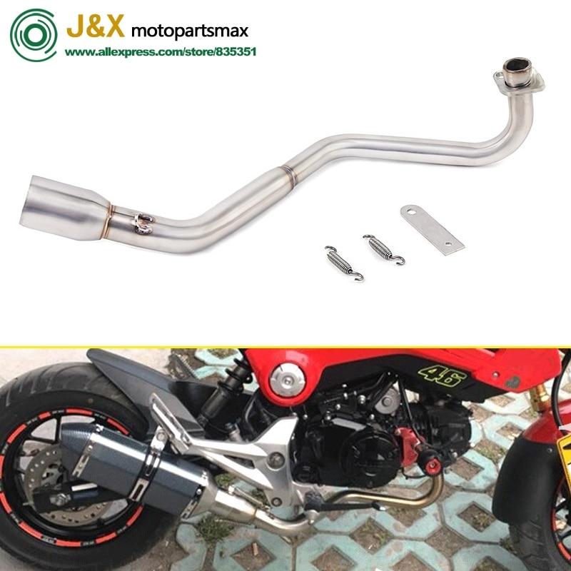 Мотоцикл глушитель контакт средняя труба для honda grom M3 MSX 125 MSX125 гром без выхлопа