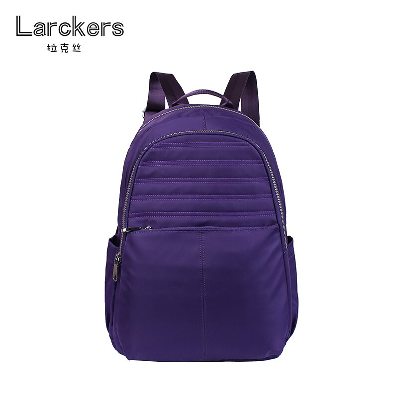New women nylon simplicity fashion backpack solid zipper decoration softback casual bag multi function women backpacks