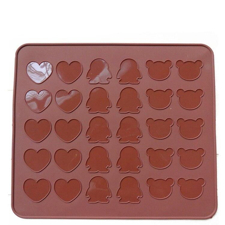 Silikon Schokolade Form Macaron Matte Formen Pfannen Große Platin Silikon Pad Backen Werkzeuge Backformen Liebe Herz Pinguin Bär D657
