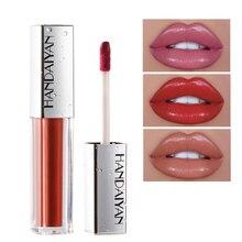 Rouge à lèvres brillant à lèvres brillant à lèvres rouge à lèvres liquide plus dodu longue durée brillant à lèvres brillant rouge brillant maquillage teinte avec brosse