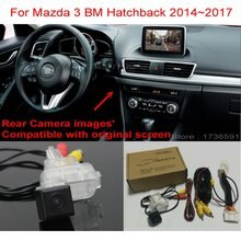 Dos de voiture Compatible avec Mazda 3 Mazda3 BM   Pour Mazda 3 Mazda3 BM, 2014 ~ 2017 RCA et écran Original, caméra de recul de voiture, ensembles de caméras arrière