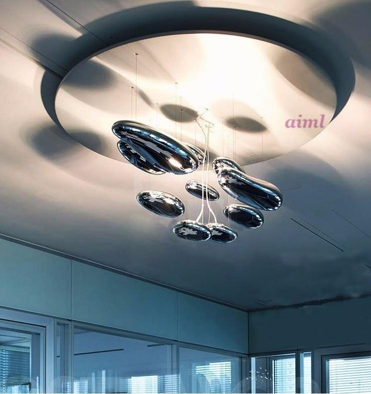 Lámpara LED de mango Luces colgantes modernas de gota de agua espacio luminaria líquida Ciencia y Tecnología colgante 85-265v