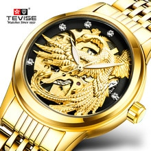 TEVISE Phoenix Women Watches Gold Luminous Automatic Self-Wind Watch Luxury Female Clock Mechanical