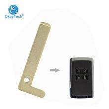 OkeyTech For Renault Espace Megane Talisman Kadjar Smart Card 4 Button Car Key Blade Emergency Insert Uncut Blanks Small Blade