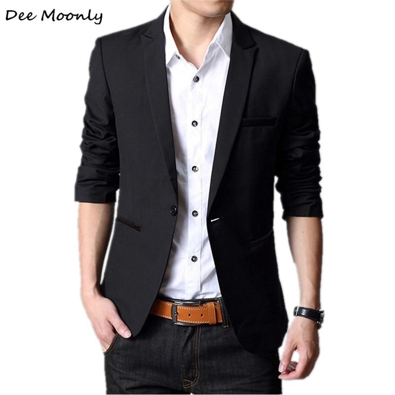 DEE MOONLY 2018 Men Fashion Plus Size Business Slim Fit Jacket Suits Masculine Blazer Coat Button Suit Men Formal Suit jacket