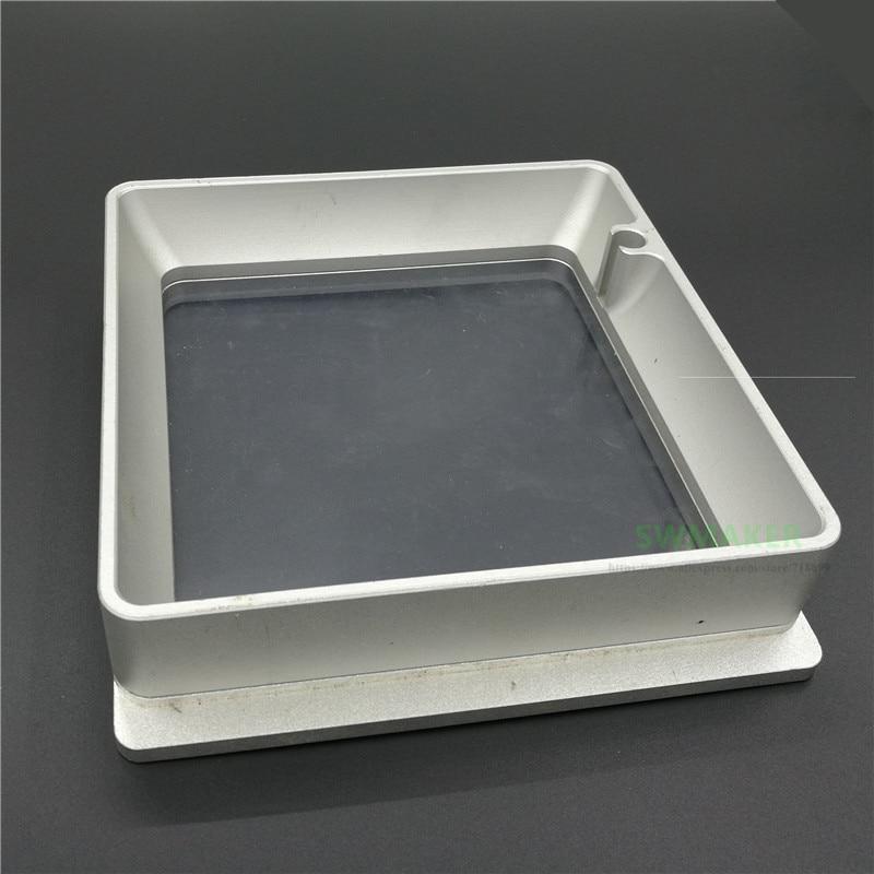 خزان راتينج من سبائك الألومنيوم للطابعة ثلاثية الأبعاد ، حاوية راتينج كوارتز عالية الحساسية لنموذج افعلها بنفسك 1 SLA DLP