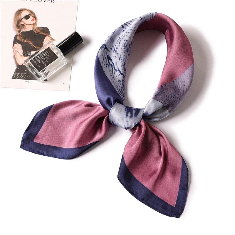 Fashion luxury brand silk Scarf floral print square scarf Bandana shawls accessories for bags scarves chiffon hijab neckerchief