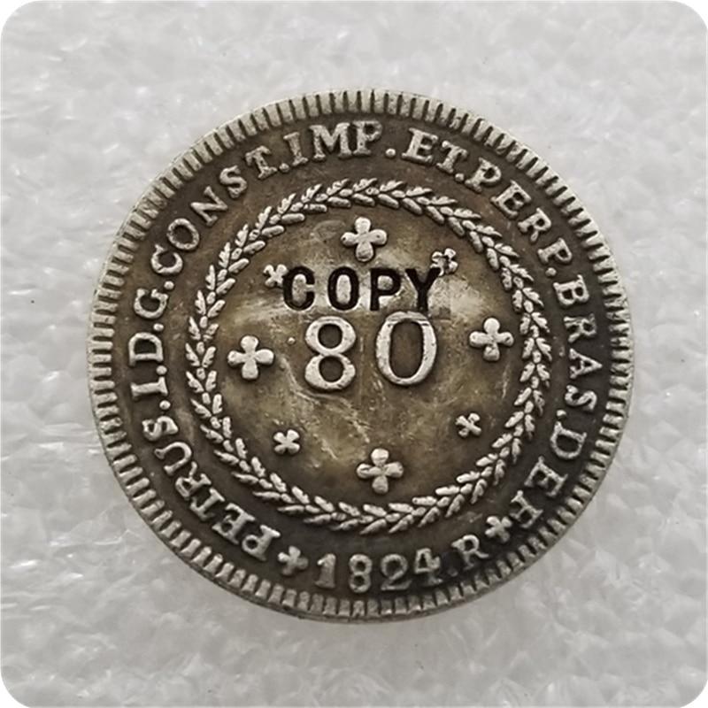 1824 brasilien 80 Reis MÜNZE KOPIE