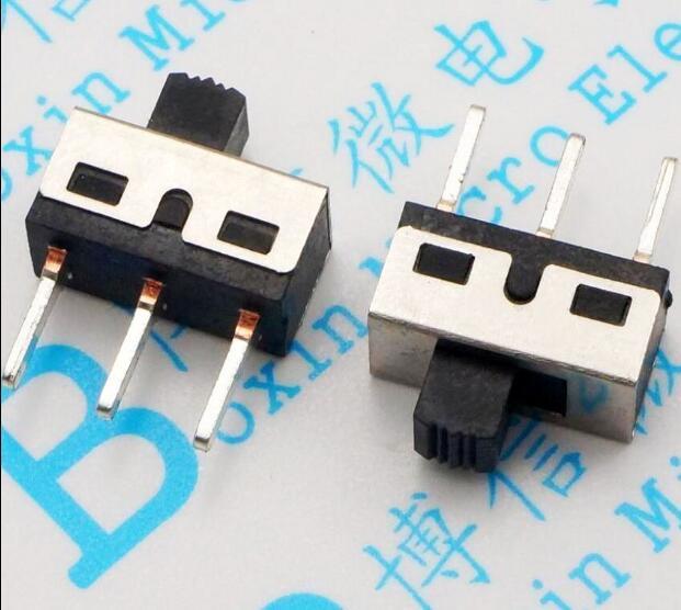 Frete Grátis 20 PCS 3Pin 1P2T SPDT Alternar SS12D10 Interruptor 3A 250 V Interruptores de comprimento do punho 5mm pin passo 4.7mm