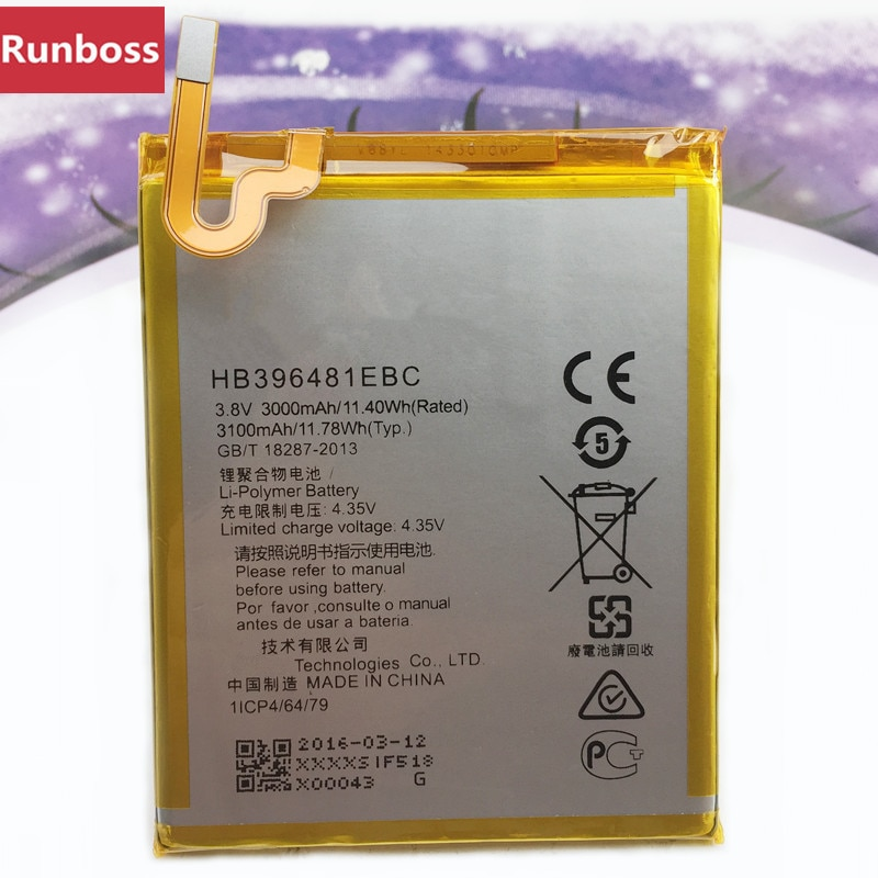 Para Huawei HB396481EBC Batería Del Teléfono móvil recargable para Huawei ASCEND G7 PLUS HONOR 5X G8 G8X RIO L03-UL00/TL00/AL00 batería