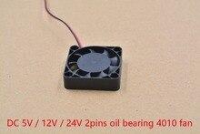 3d stampante parte fan 4010 2 pin 40 millimetri 40x40x10mm 4 centimetri scheda grafica DC 5 V/12 V/24 V 4010 2 P 1 pcs
