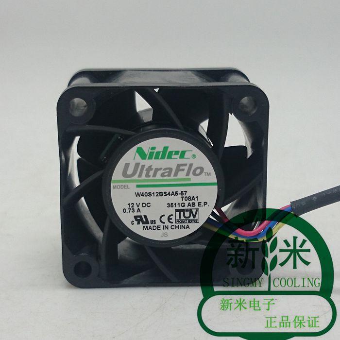 Nouveau NIDEC 4028 12 V 0.73A W40S12BS4A5-57 serveur ATX ventilateur de refroidissement