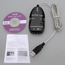 Adaptateur câble de guitare à USB 5X   Lien dinterface USB, adaptateur CD denregistrement de MAC/PC, vente en gros