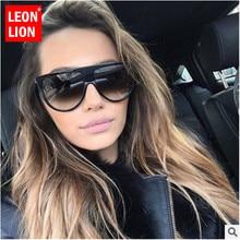 LeonLion 2021 Large frame Sunglasses Women Brand Designer Vintage Eyeglasses Men Shopping UV400 Stre