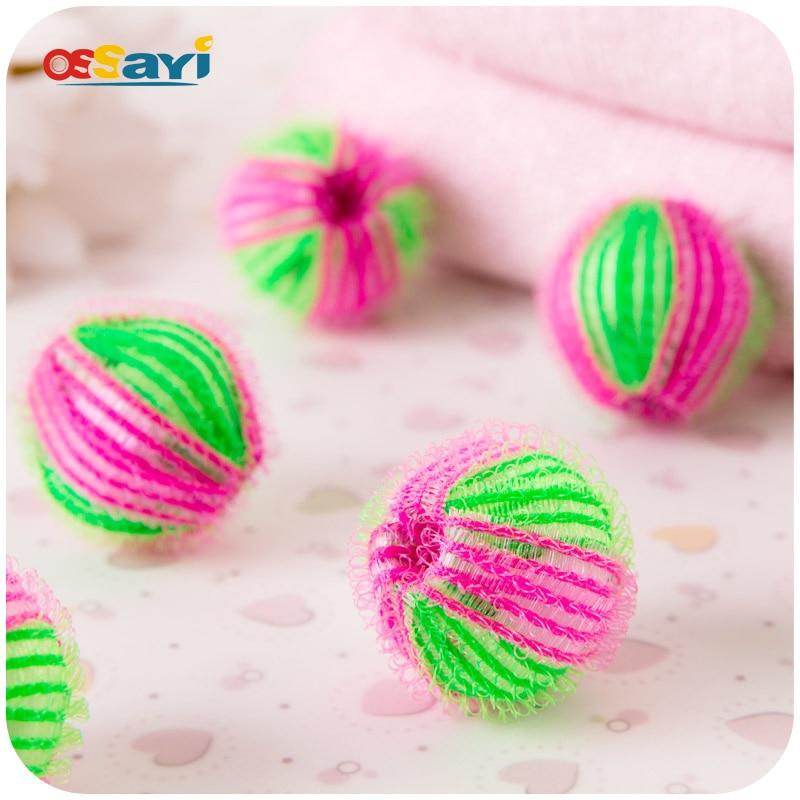 Волшебные мягкие шарики для белья ECO, 6 шт., моющие шарики для удаления волос из ткани, для стиральной машины, для чистки одежды, с защитой от н...