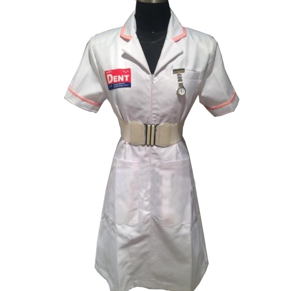 2016 BatMan Joker Nurse White Uniform Dress Cosplay Costume Custom Made