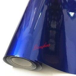 1.52x18m azul brilhante colorido diy corpo do carro filmes vinil envoltório do carro adesivo decalque ar release film
