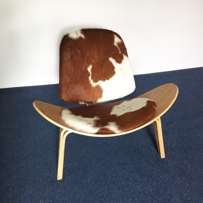U-BEST يجنر قذيفة كرسي الخشب الرقائقي منتصف القرن قذيفة كرسي المهر جلد صالة كرسي