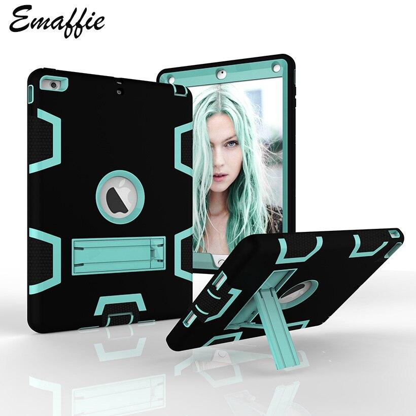 Emaffie For iPad Air Case For iPad Air 1 Case For iPad 5 Case Kickstand Tablet Cases Heavy Duty Protection Fundas Capa Coque