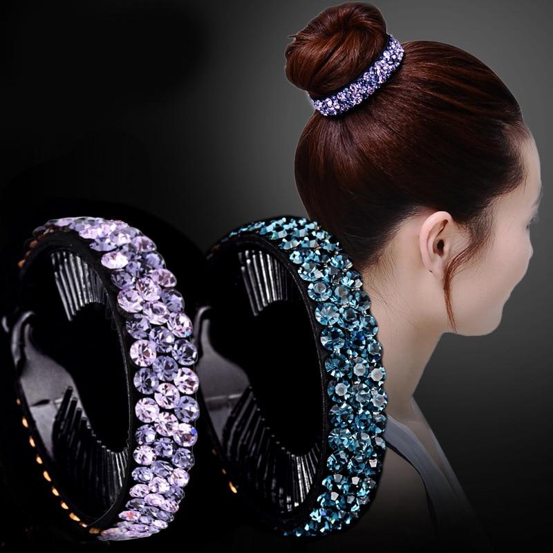 AliExpress - AWAYTR New Meatball Hair Accessories Women Hair Claws Headwear Rhinestone Flower Hairpin Bird Nest Floral Twist Clip 10 Colors